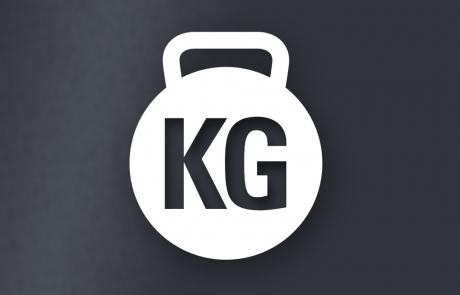 Logo, personlig træner, KG, kettlebell