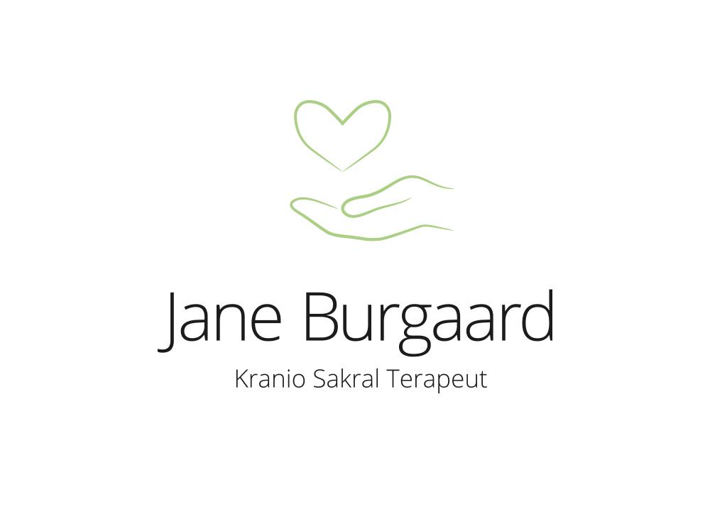 Jane Burgaard Logo, Kranio Sakral Terapi, Positivt, hånd med hjerte