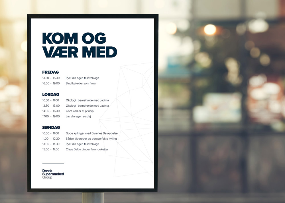 FoodFestival 2017, Dansk Supermarked Group, program, A1 poster, mockup