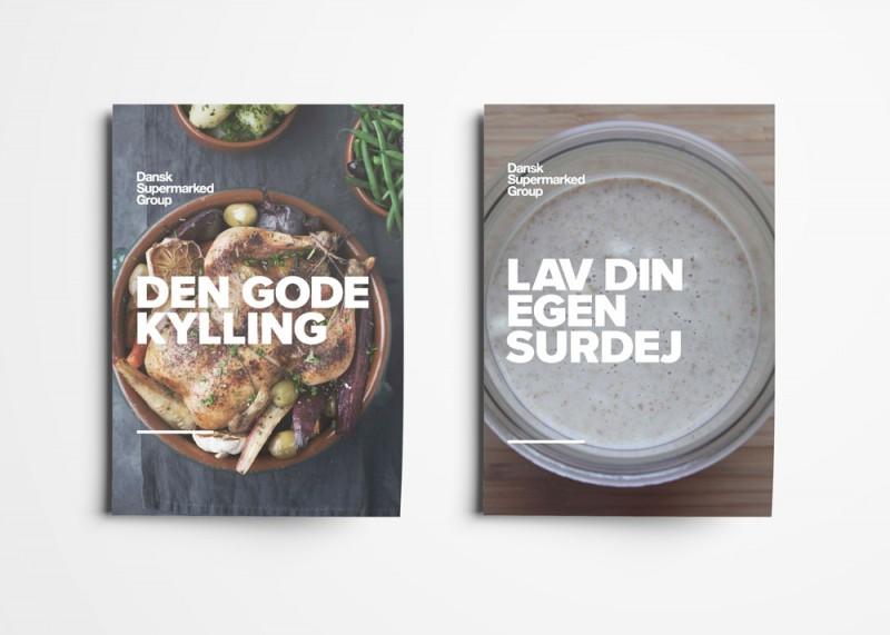 """FoodFestival, Dansk Supermarked Group, Opskrifter: """"Den gode kylling"""" og """"Lav din egen surdej"""", mockup"""