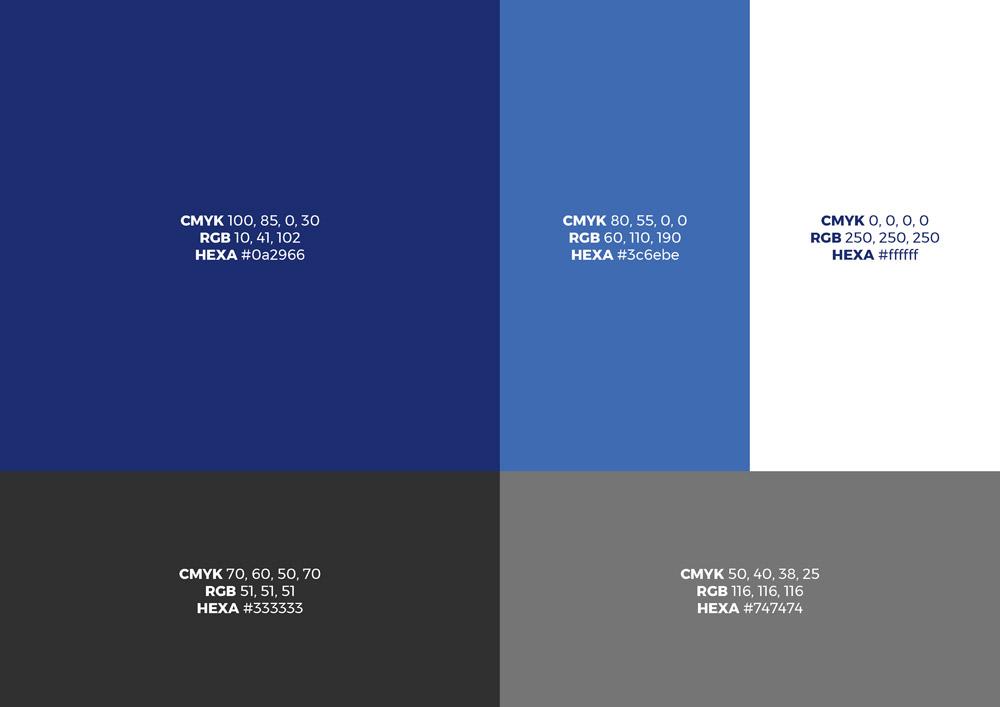 ONSITE Byggepladsservice, designmanual, farver