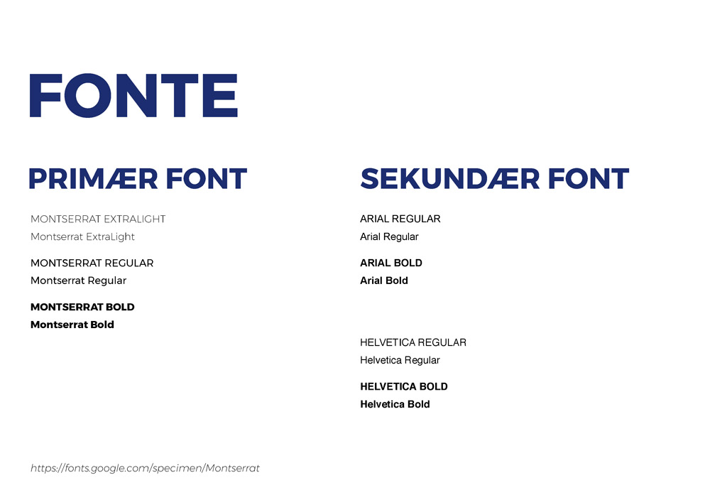 ONSITE Byggepladsservice, designmanual, fonte, Montserrat
