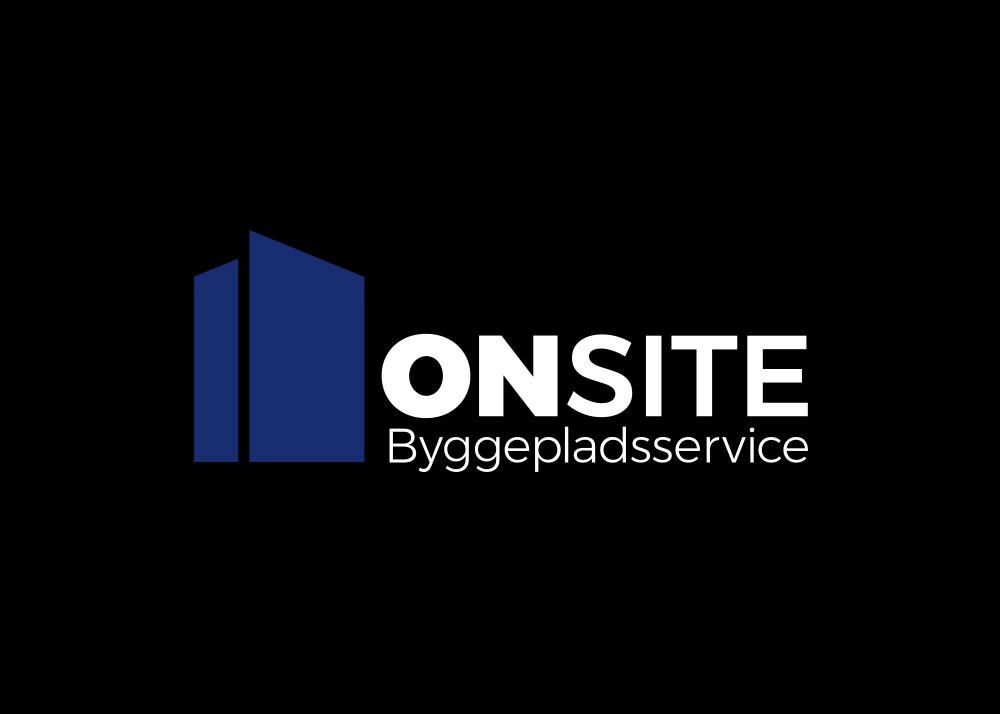 ONSITE Byggepladsservice, logo negativt