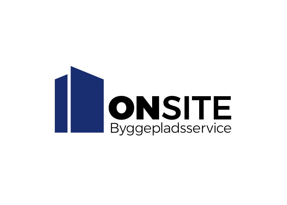 ONSITE Byggepladsservice, logo positivt